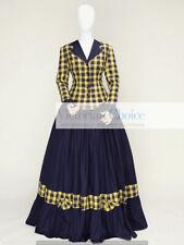 Victorian Dickens Caroler Tartan Dress Gown Theatrical Costume Pioneer Women 122