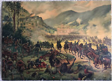 More details for rare ww1 french & imperial german print 1914  world war one battle scene