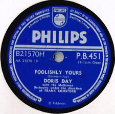 Doris Day Easy Listening 78 RPM Records