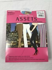 Assets by Sara Blakely Marvelous Mama Pantyhose Size 4 Black Maternity Tights
