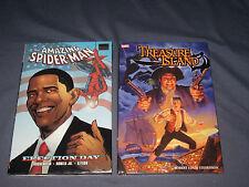 MARVEL AMAZING SPIDER-MAN ELECTION DAY TREASURE ISLAND GRAPHIC NOVEL HARD COVERS
