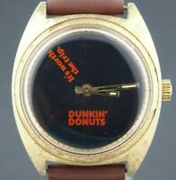 Vintage 1970's wind-up Dunkin' Donuts Advertising Novelty Character Watch