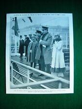 Nel 1922 Como Sovrani del Belgio Re Alberto visita isola Comacina C. d'Asburgo