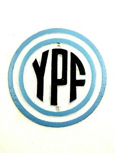 YPF Argentina Gas and Oil Company Cast Iron Sign Rare Argentine Plate #733