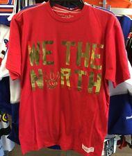 Toronto Raptors Black T Shirt Basketball Mitchell Ness Red We The North Medium