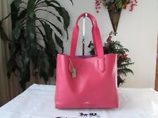 NWT Coach Pebble Leather Derby Tote Strawberry Bright Red F58660