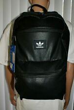 Adidas Originals National Plus PU Backpack 3D Foam Panel Media Pocket Black NEW