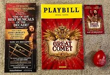 The Great Comet playbill *Josh Groban package* -Playbill, egg, flyer, mini flyer