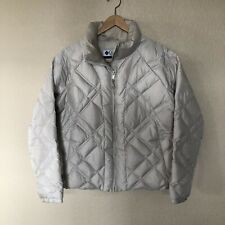 columbia down puffer jacket coat off white womens size L