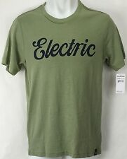 NEW Electric Cursive Green Mens Large Snow Skate Cotton Tee Shirt Msrp$22