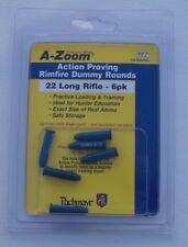 22 Rimfire Snap Caps - 6 PACK .22 Long Rifle - A-ZOOM Aluminum Practice Rounds