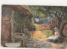 A Hampshire Garden Nr Burton Reginald West 1907 Tuck Postcard  146a