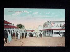 1914 Midway Crescent Park RI post card Amusement Park