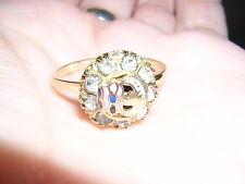Rebekah ODD FELLOWS 10k gold fill fraternal RING Ladies vintage>>3,4,5,6,9,10,11