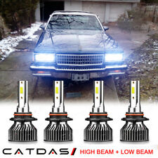 For Chevy Caprice 1987-1990 6000K LED Headlight High Low Beam Conversion Kit 4pc