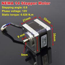 0.9 Degree 35mm NEMA14 2-phase 4-wire Stepper Motor 5mm shaft for CNC 3D Printer