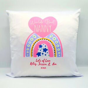 Personalised Cushion WORLDS BEST Mummy, Nanny, Mum, Grandma Mothers  Day Gift