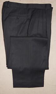 ZANELLA Dress Pants - Men Pant 34 W 33 L Black *Italian* Wool Alter Pant Slacks