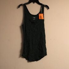 MOSSIMO TANK TOP GREEN Shine SIZE  Small Long And Lean.
