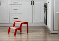 2 Step Stool For Toddler Wooden Kitchen Helper Stool Bed Step Stool
