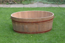 vintage wooden bath tub old original cooper made wooden bath wash tub
