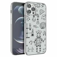 For iPhone 12 & 12 Pro Silicone Case Science Chemistry Pattern - S3505