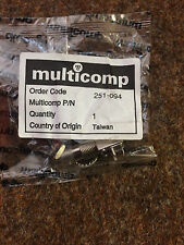 10 each Multicomp BNC Connector P/N 251-094 BNC Panel Mount NOS + Nuts, Washers