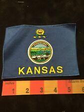 Large Kansas Flag Patch 87Jj
