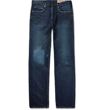 Brand New $580 KAPITAL Cisco Distressed Washed Denim Jeans Size 32 Made in Japan