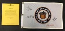 2003 US Open Pin Flag Signed Autographed by; Curtis, Furyk, Micheel & Weir