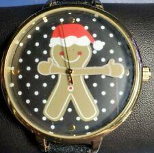 Cute Accutime 17438 Gingerbread Man Christmas Women's Quartz Watch Moving Arms