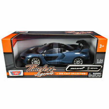 MCLAREN SENNA GRAY MET. & BLACK 1/24 DIECAST MODEL CAR BY MOTORMAX 79355