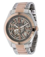 Kenneth Cole Silver & Rose Gold Stainless Automatic Skeleton Men's Watch KC9052