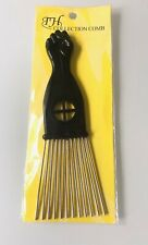 Peigne Afro à dent métal coiffure coiffeur cheveux !