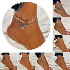 Anklet Different beaded, gold, silver, Boho Ankle Bracelet Womens Fashion Beach