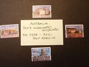 Australia  2009  Corrugated Landscapes SG 3258 to 3261 Used self adhesive