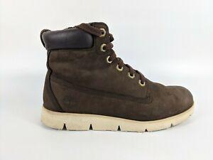 Timberland Boys Brown Leather Boots Uk 4 Eu 37