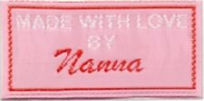 Craft Labels Pack of 25 for Clothing Woven - Pink - Nanna