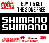 2 X LARGE SHIMANO DECAL STICKER FOR BOATS, CARS, UTES, WALL  900MM WIDE {WHITE}