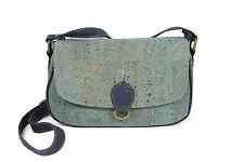 SMALL SHOULDER BAG WOMEN´S GIRL LADY CORK NATURAL BLUE COLOR GENUINE PORTUGUESE