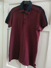 Genuine D&G Mens DOLCE & GABBANA Polo Shirt Burgundy / Black Size EU 54 RRP £350