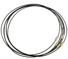 6pc Black Steel Memory Wire Cord Bracelet Making-7538Y
