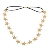 Style Star Chain Headband Accessories Women Band Pentagram Hair Jewelry Metal