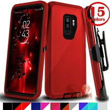 For Samsung Galaxy S9 S9 + Plus Shockproof Protective Case Cover With Belt Clip