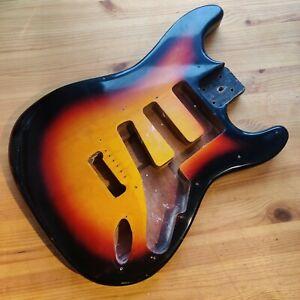 Used Relic 70s Japan? Korea? Guitar Body Strat Stratocaster Style Sunburst
