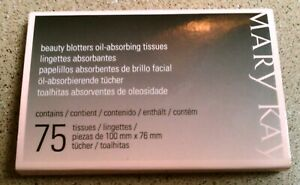 Mary Kay Beauty Blotters Oil Absorbing Tissues 75 Tissues New Absorb Excess Oil