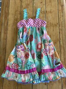 MATILDA JANE Adventure begins Heads Up Seven Up Dress size 6 Pocket Floral
