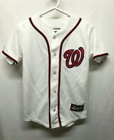 Majestic Strasburg #37 Washington Nationals Baseball Jersey Kids Size M White