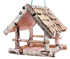 Vogelhäuschen Birke groß Holz robust Vogelhaus Futterhaus Futterhäuschen hängen