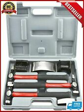 Heavy Duty Auto Body Hammer And Dolly Set 7 Piece Repair Kit For Dents New
